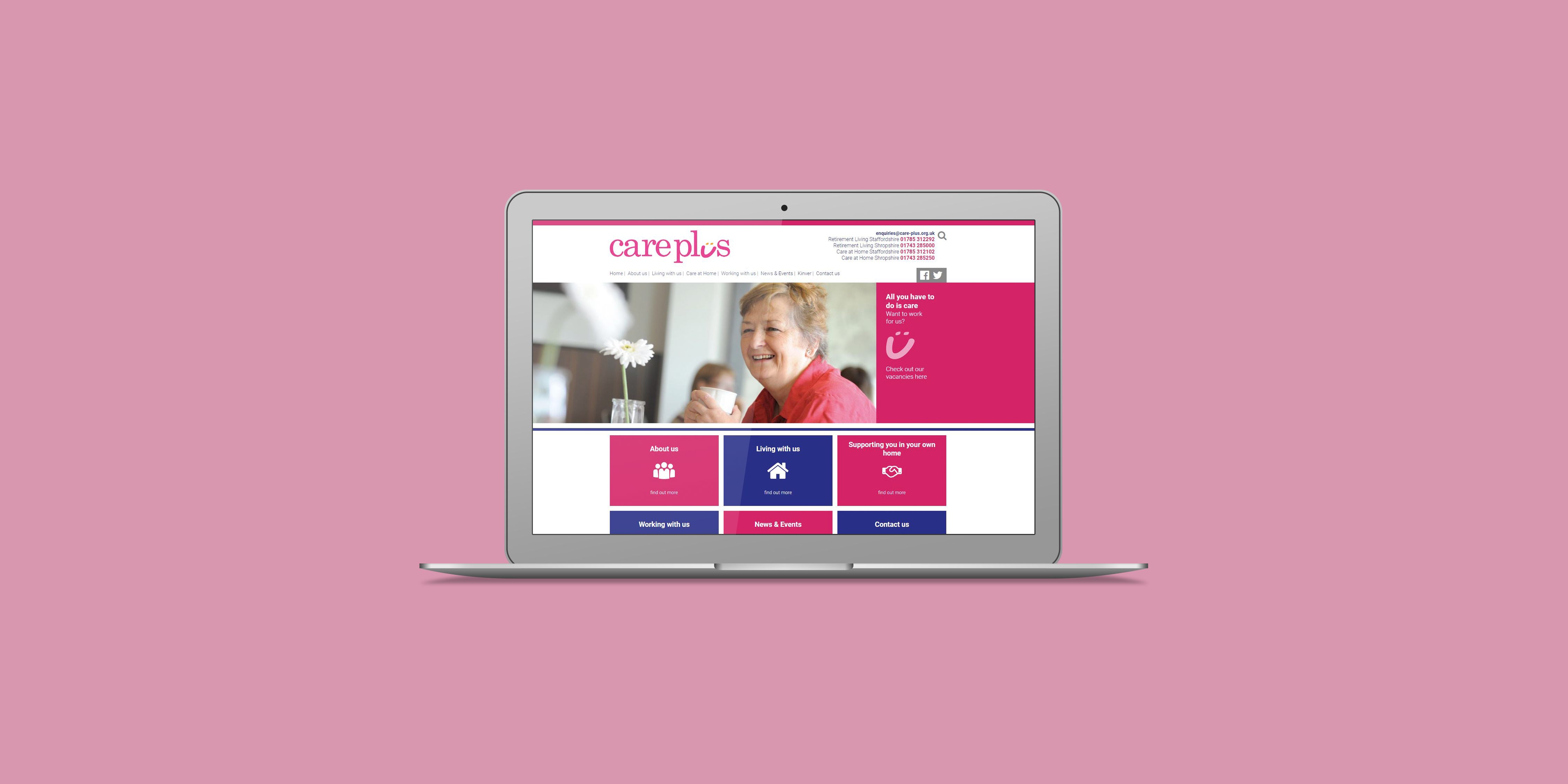 Care Plus - The Web Orchard - Web Design Shrewsbury
