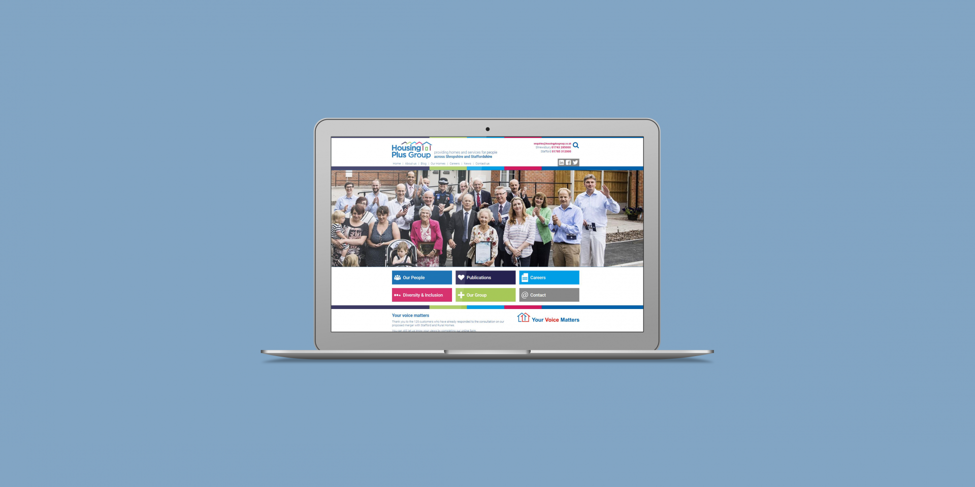 Housing Plus Group - The Web Orchard - Web Design Shrewsbury