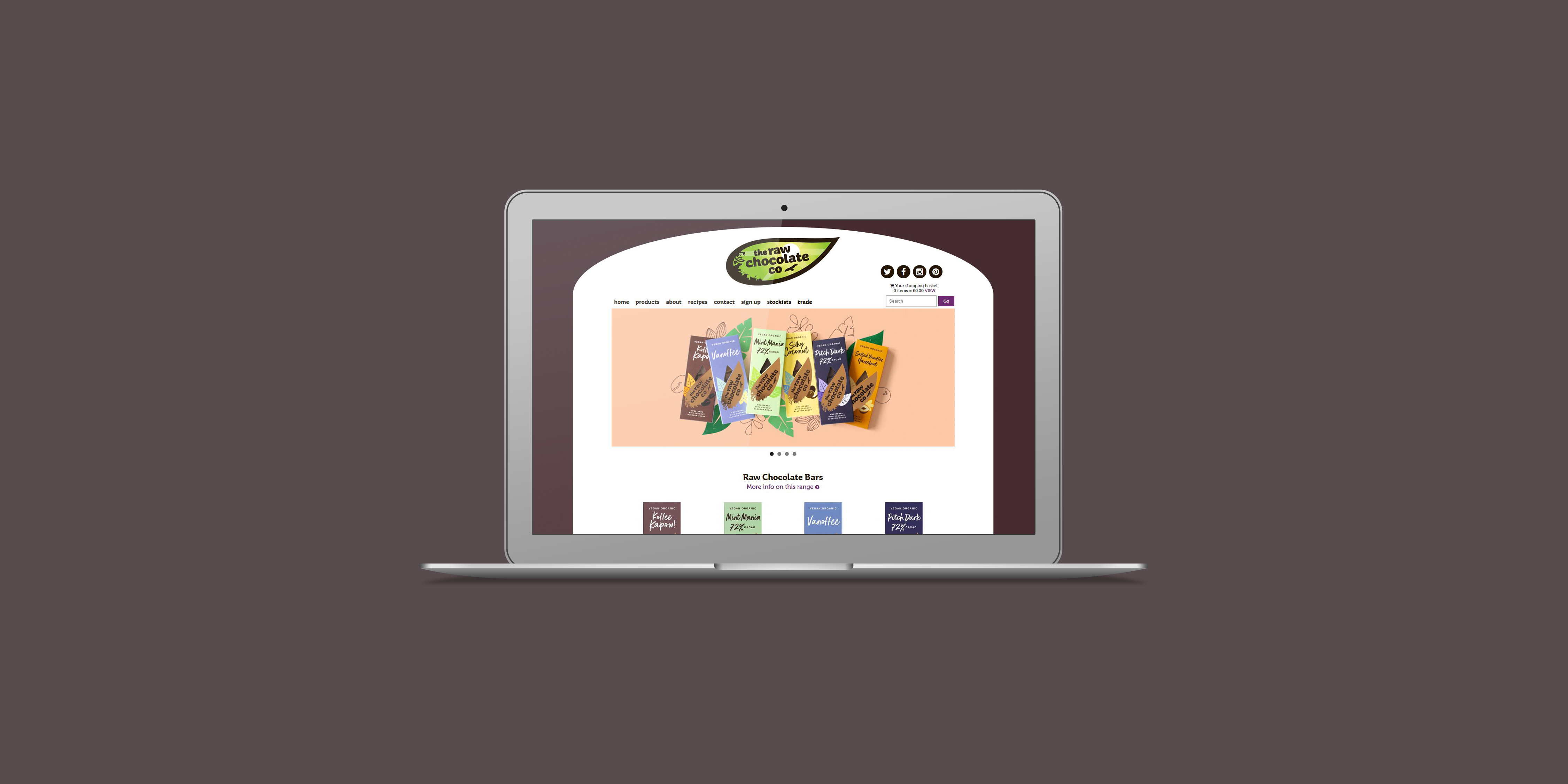 Raw Chocolate Co - The Web Orchard - Web Design Shrewsbury