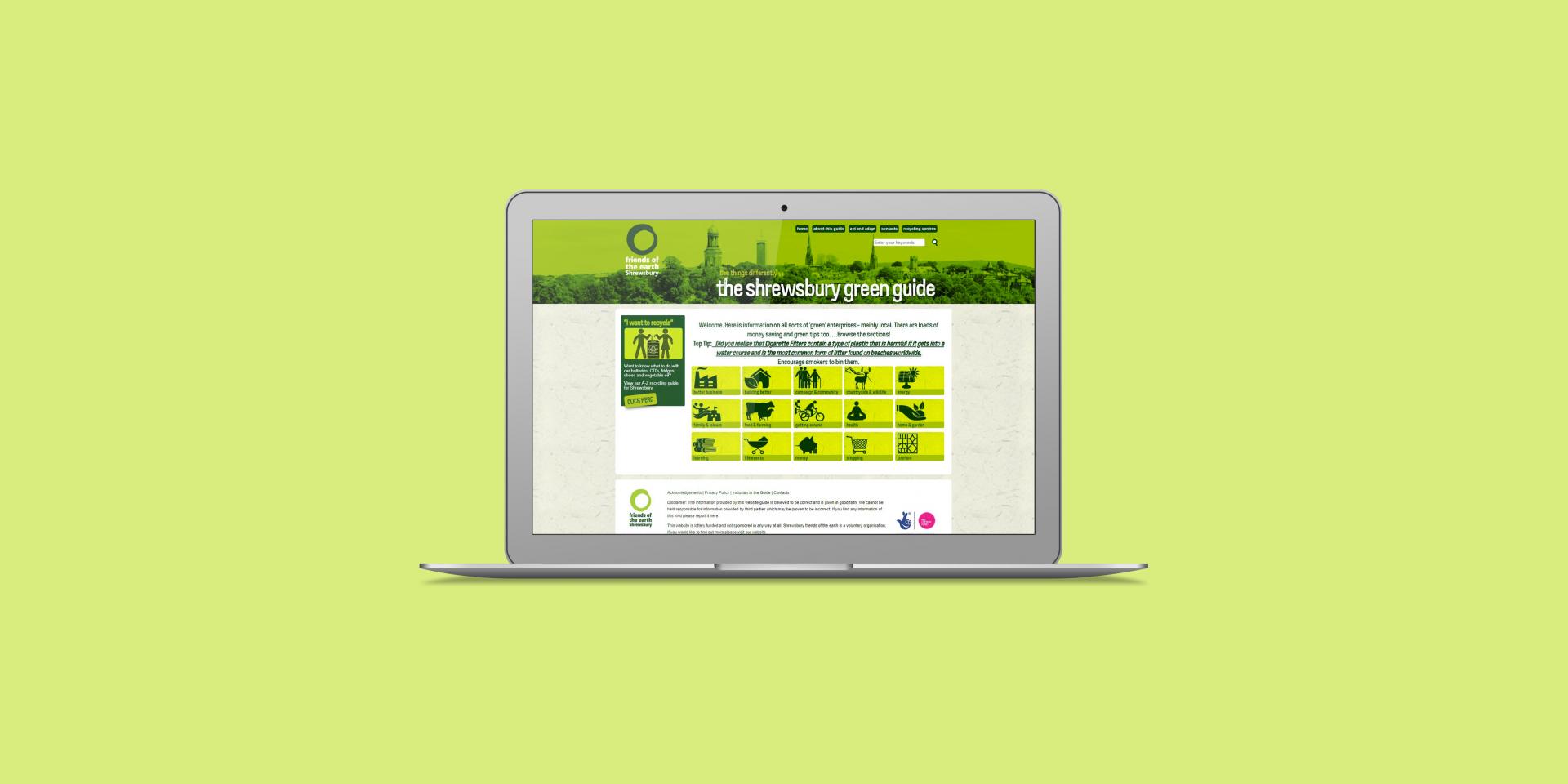 Shrewsbury Green Guide - The Web Orchard - Web Design Shrewsbury