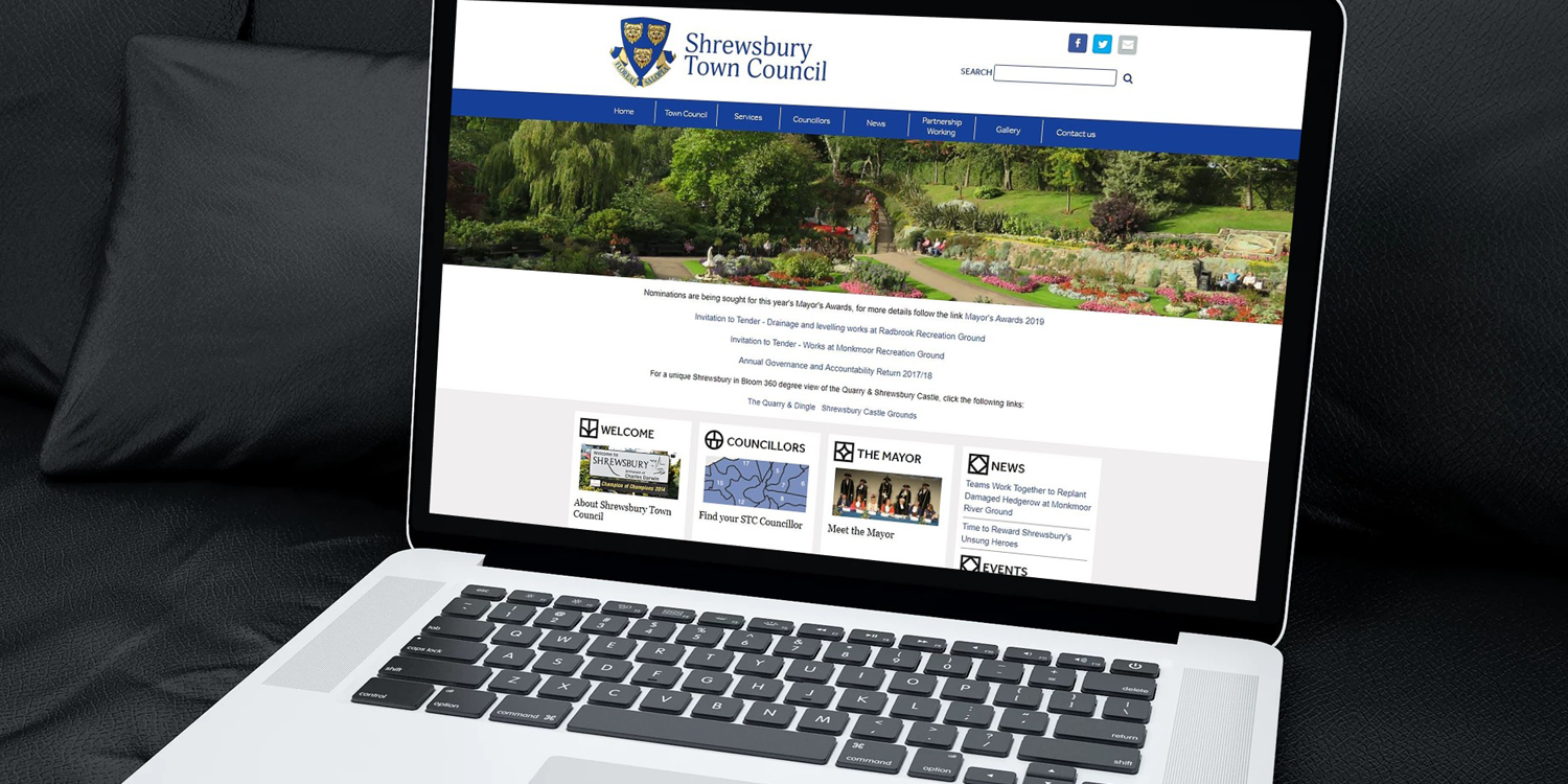 Shrewsbury Town Council - The Web Orchard - Web Design Shrewsbury