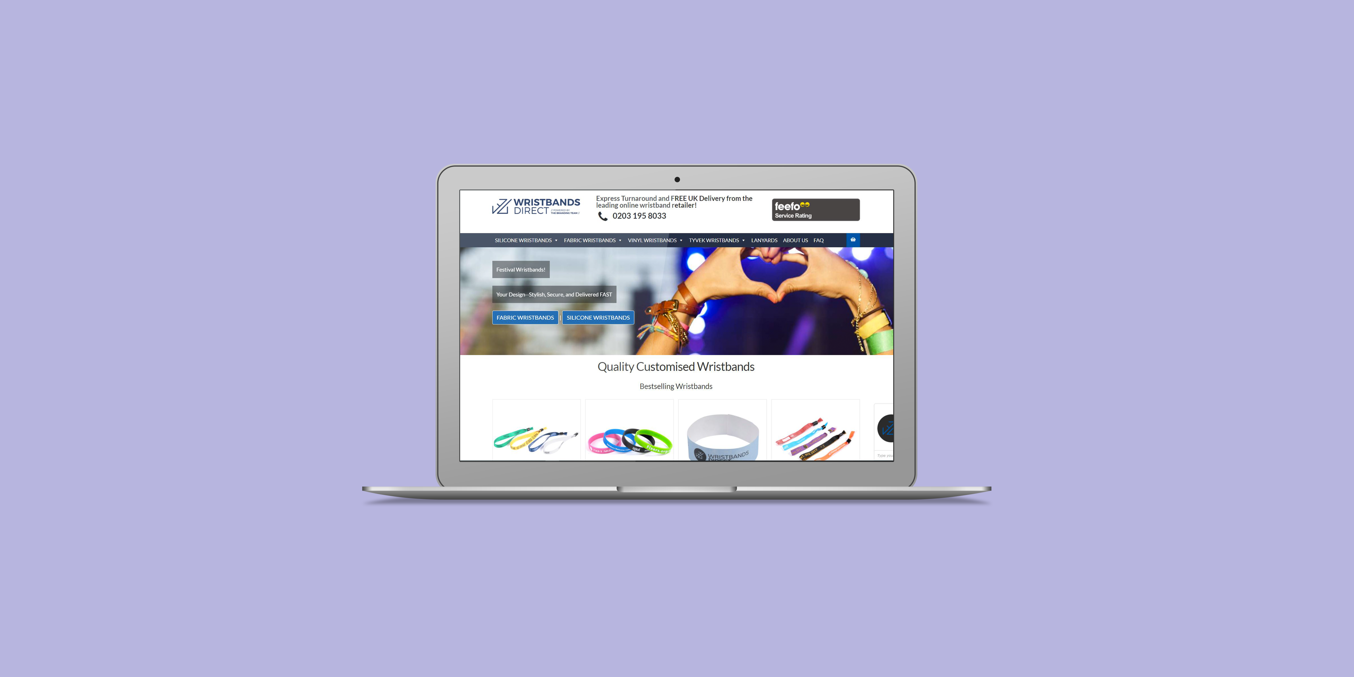 Wristbands Direct - The Web Orchard - Web Design Shrewsbury